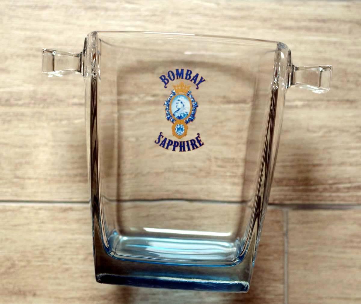 Gin bombay sapphire glass ice bucket seau glaçons verre man cave bar pub bistrot