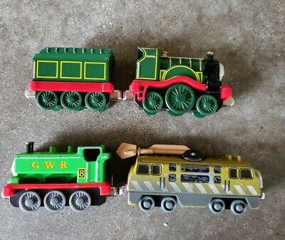 4x Thomas The Tank Engine Take N Play Diecast (Duck, Diesel 10, Emily + Tender)