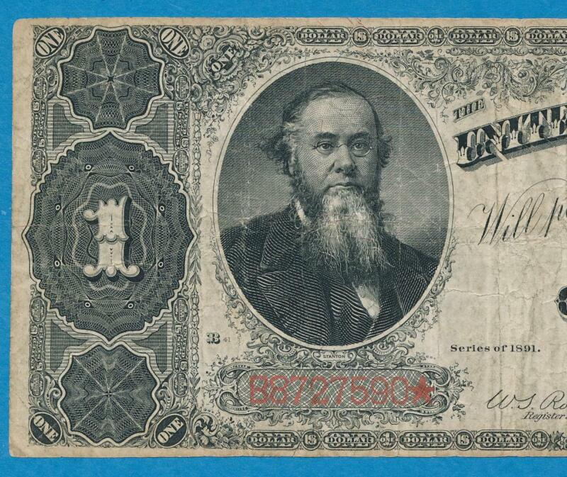 $1.00 1891 FR.351 STANTON  TREASURY  COIN NOTE AVERAGE CIRCULATED  VERY FINE