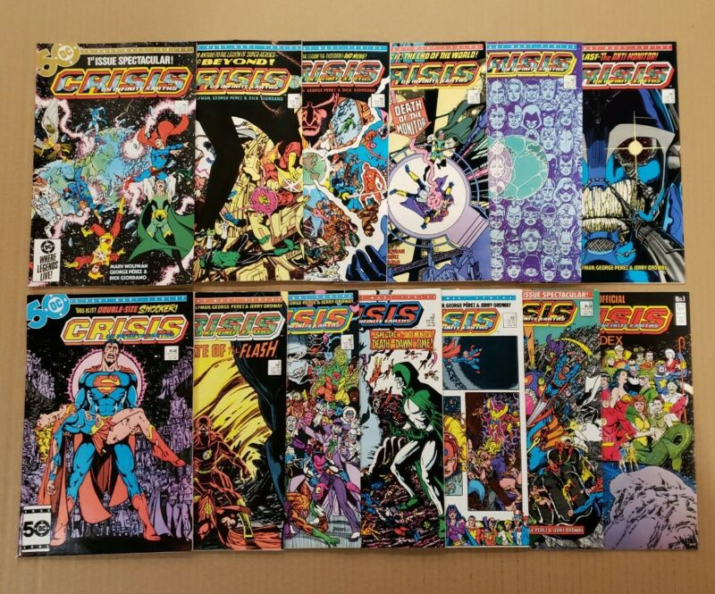 Crisis on Infinite Earths #1-12 complete plus Index Lot of 13 DC 1985 NM- avg