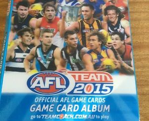 2015 afl footy card album teamcoach Scamander Break ODay Area Preview