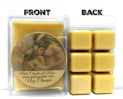 NAG CHAMPA 3.2oz Pack of Soy Wax Tarts (6 Cubes Per Pack) Scent Brick wax Melts