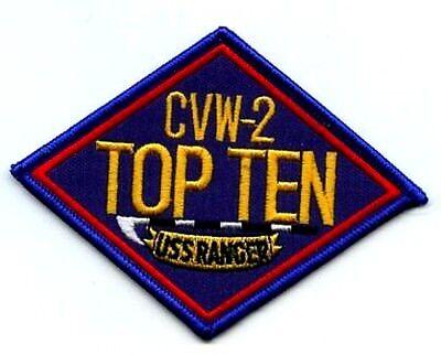 FANCY DRESS COSTUME TOP CVW2 TOP TEN USS RANGER PATCH as seen on TOP GUN MOVIE - Top Ten Costumes