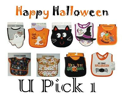 Halloween Baby Bib 1 ST Ghost First Fun Cute Infant Boys Girls Toddler