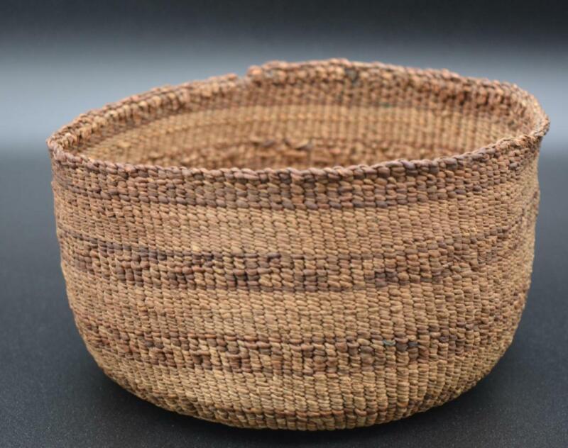 Vintage Klamath Modoc Native American Indian Twined Small Utility Basket
