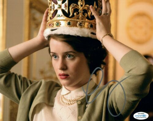 Claire Foy Signed Autographed 8x10 Photo The Crown Actress ACOA COA