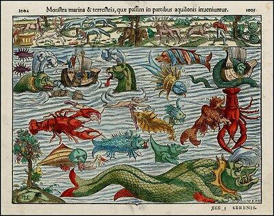 Reproduktion Monstra Marina Alte Sea Monsters von Munster Poster Bild Aufdruck