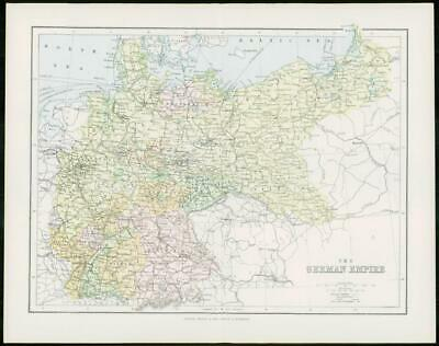1903 Original Antique Colour Map - ALPS SWITZERLAND Lakes Adriatic Sea (19)