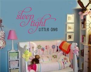 Sleep-Tight-Little-One-Vinyl-Wall-Decal-Stickers-Baby-Nursery-Room-Decor-Letter