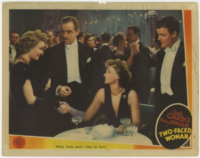 Two Faced Woman 1941 Original Release Lobby Card Greta Garbo Douglas Bennett