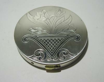 Antique Ladies Compact Zell Fifth Avenue Mirror Compact Flowers