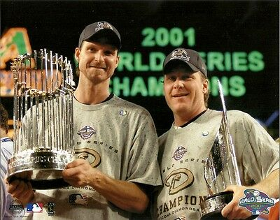2001 WORLD SERIES MVP 8x10 Randy Johnson & Curt Schilling ARIZONA D'BACKS CHAMPS 2001 World Series Mvp