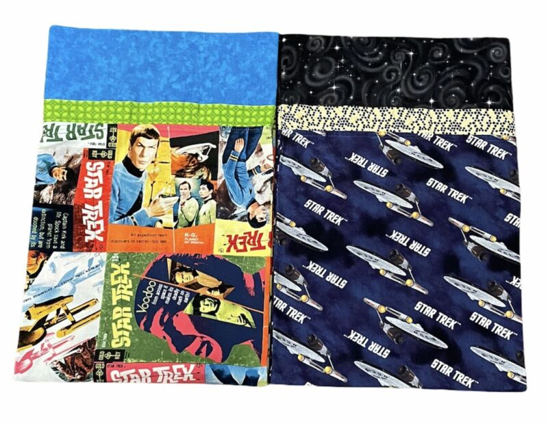 Star Trek Handmade Cotton Flannel Pillowcases Lot Of 2 NEW