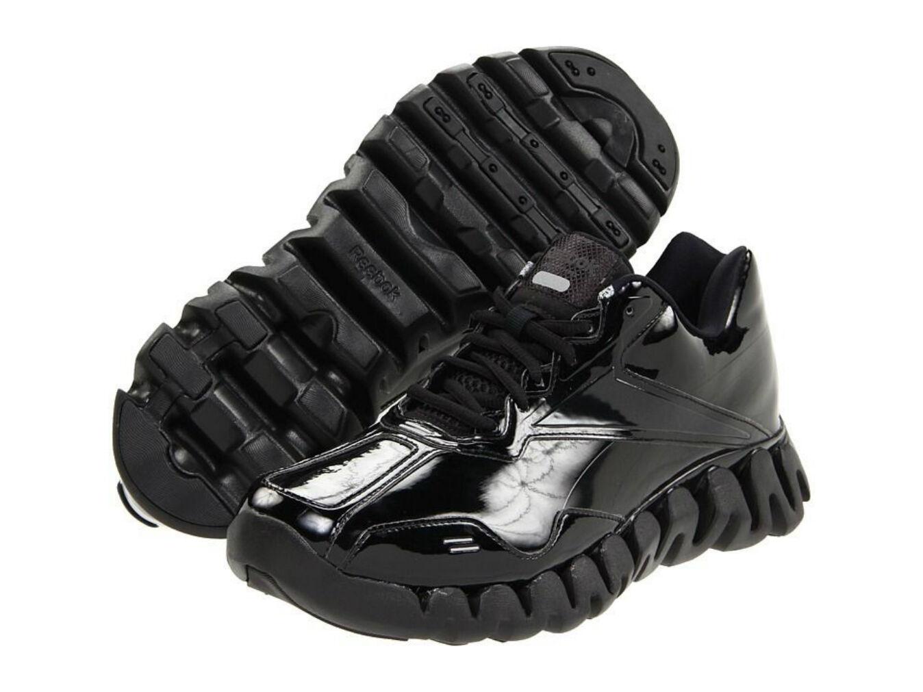 87ca253b591773 Reebok Zig Energy Ref Referee Shoe Sneaker Black Patent NEW SIZE 12 фото