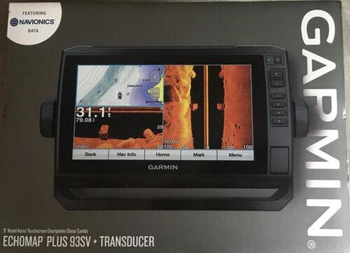 Garmin ECHOMAP Plus 93sv LakeVü G3 with GT52HW-TM Transduce