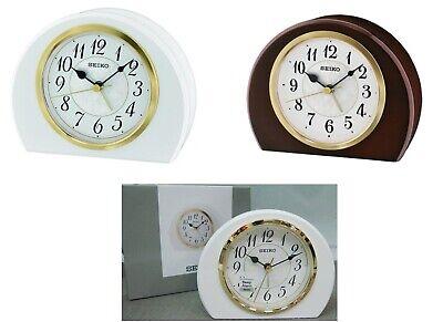 Seiko QXE054 Piano paint wooden case Bedside Alarm Clock  10.5x13.3 x4.5cm Beep