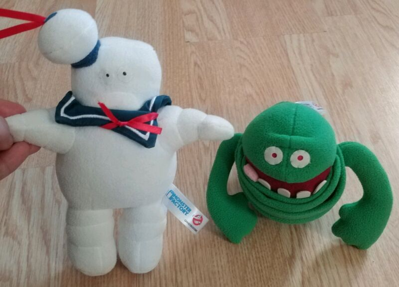 """Ghostbusters Monster Stay Puft Marshmallow Man & Slimer Ghost Plush 9"""""""