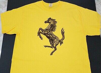 New FERRARI HORSE T-SHIRT artistic prancing Scuderia la f12 v12 f430 458 (Ray Ban Emblem)