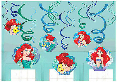 Disney Ariel Dream Big Value Pack Swirl Decorations Birthday Party Supply - Ariel Decorations