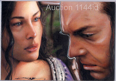 LORD OF THE RINGS LOTR - ARWEN & ELROND - PSC SKETCH CARD by JIM KYLE