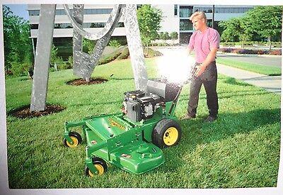 """*John Deere Dealers 54"""" Commercial Walk-Behind Mower Postcard New Old Stock!1997"""