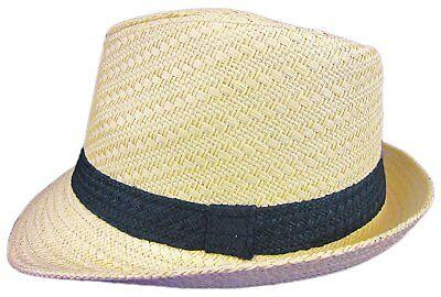 Dobbs Mini Sand Straw Hat Fedora Size S/M