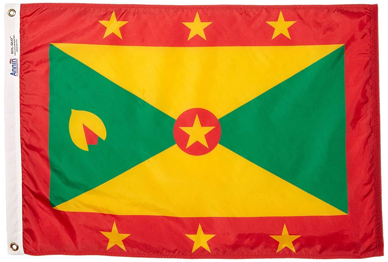 Annin Flagmakers Model 192993 Grenada Flag Nylon  NYL-Glo, 2