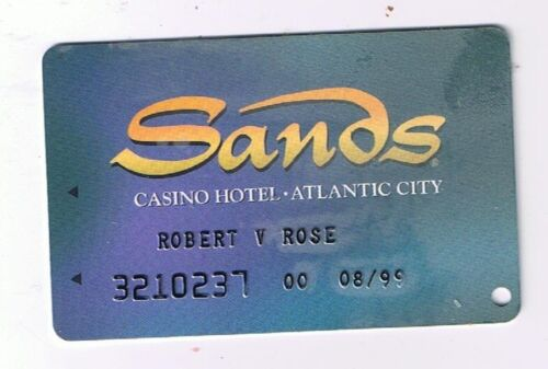 Sands Atlantic City Casino Hotel-Now Imploded-Slot Club Card