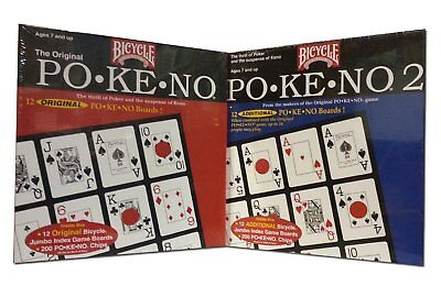 Pokeno Original, 2, Too or Set Games by Bicycle 12 Unique Boards Each Brand New