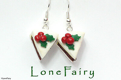 Polymer Clay Christmas Jewelry.Details About Polymer Clay Christmas Cake Silver Plated Earrings Cupcake Mince Pie Pudding