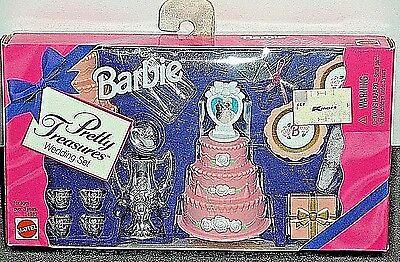 MATTEL 1995 BARBIE PRETTY TREASURES WEDDING SET #14982, NRFB