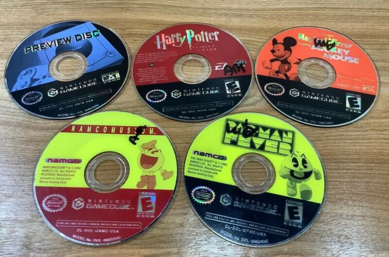 Lot Of 5 - Loose Disc Nintendo Gamecube Video Games (Tested & Work)