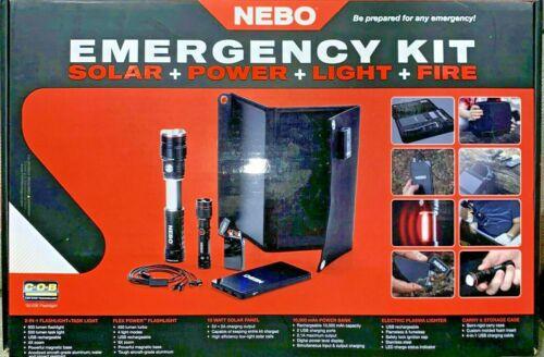 NEBO Slyde King Emergency Kit #6874 10-Watt Solar Panel, Plasma Lighter, Power