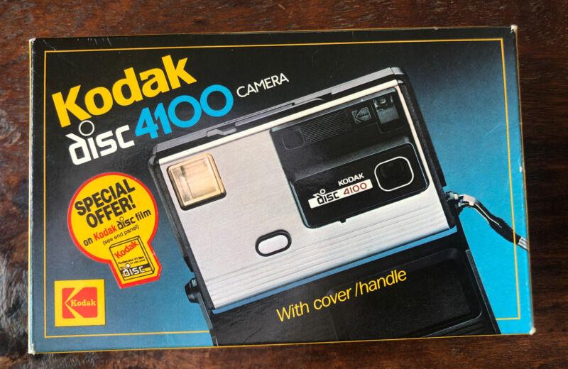 Vintage Kodak Disc 4100 Camera in Box with Film Disc inside!
