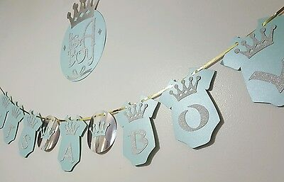 Its A Boy Prince Crown Theme Baby Shower Party Hanging Banner  With A Sign](Prince Theme Decorations)