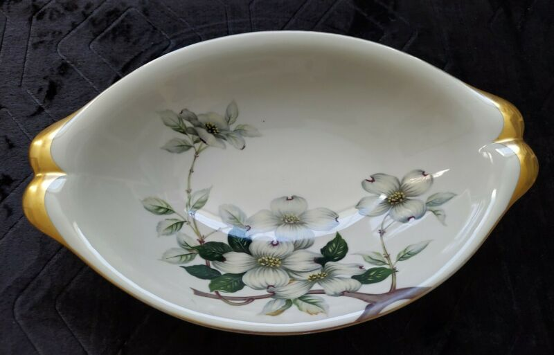 "Meito Norleans Livonia Dogwood  Oval Serving Dish Bowl 12"" Occupied Japan"