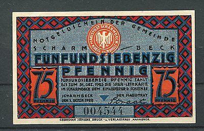 Scharmbeck 75 Pfennig Notgeld ( I )