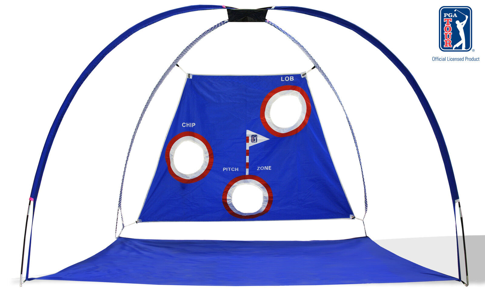 Huge Official Pga Tour Golf Practice Training Cage - Driving Net With 3 Targets
