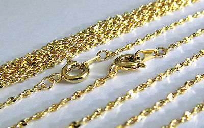 Wholesale 10 Pcs 18 Inch Gold Plated Twisted Serpentine 1.5MM Chain Necklace Lot