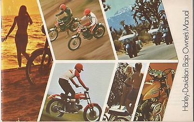1971 Harley Davidson Motorcycle Baja Owner's Manual P/n 99467-71