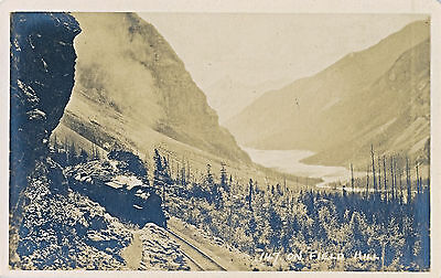 Canadian Pacific Steam Engine - c1915 RPPC Steam Engine Train,Field Hill,Canadian Pacific Railway Sepia Postcard