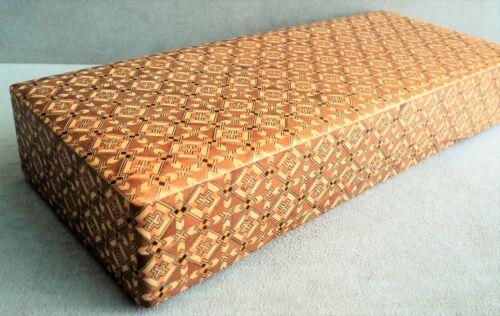 """Intricate MARQUETRY Wood BOX Hakone YOSEGI ZAIKU Lift-Off Lid 12""""x 5""""x 2"""" -Japan"""
