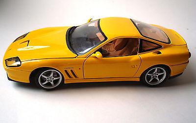 (Ferrari 550 Maranello 1/18th Scale Model Yellow By Maisto)