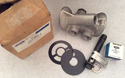 NOS Ford D1ZZ-6881-A Boss 429, 429SCJ aluminum oil cooler adapter w/extra parts!
