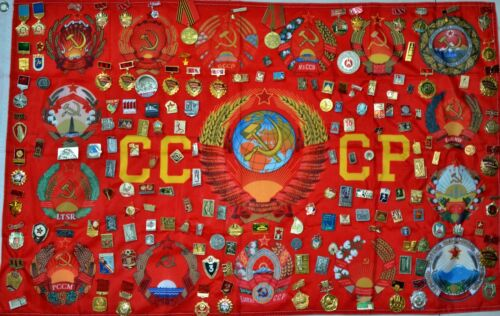 Collection of 160 Soviet USSR Medals & pin badges +