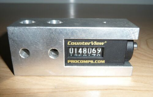 PROGRESSIVE COMPONENTS CounterView Counting Tool. Mounted in aluminum block