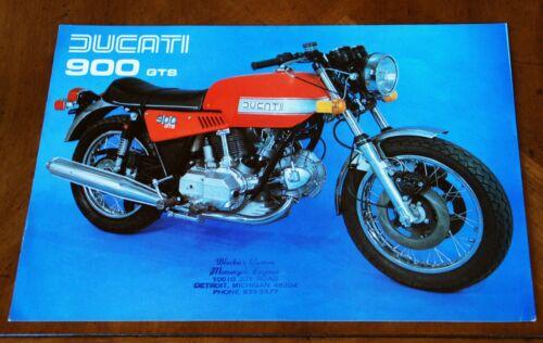 Ducati 900 GTS leaflet Prospekt, 1978