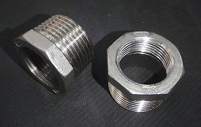 Stainless Steel Bushing Reducer 1 X 34 Npt Pipe Bs-100-075