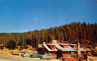 Grand Lake Colorado~Southway Lodge~Cabins & Dining Room~Catch a Trout~1950s Cars, used for sale  Shipping to Canada