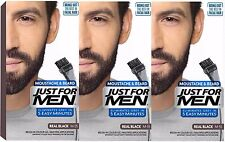 3 x Just For Men Moustache and Beard Facial Hair Gel Colourant Men